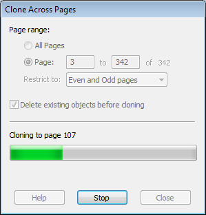 Cloning objects across pages with Infix