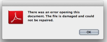 why error in pornting of pdf files from internet