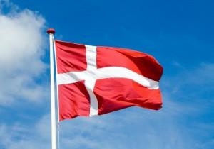 Danish flag flying