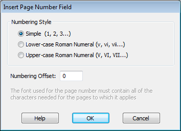 Changing page numbers using Infix