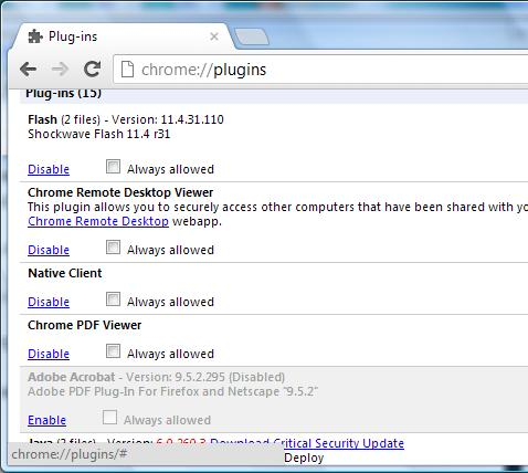 viewing pdf files in chrome