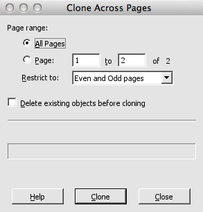 Infix Clone Across Pages Dialog